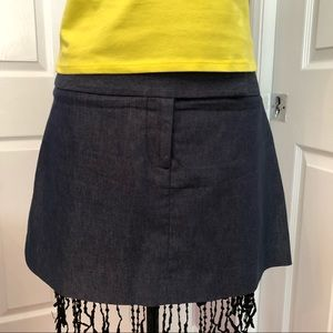 GUESS collection blue mini skirt